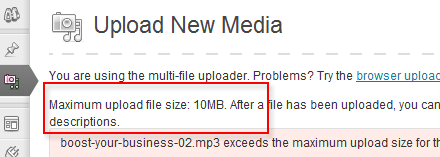 Podcasting Profit (part 1): How-To Increase the Maximum Upload File Size on WordPress