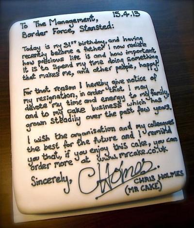 Resignation-Cake