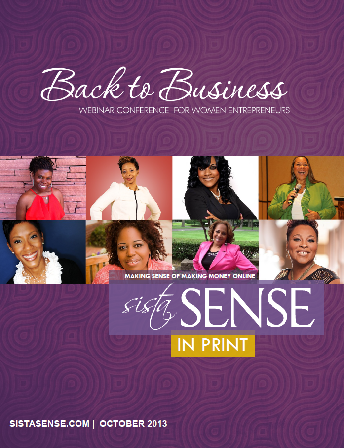SistaSense In Print Magazine - Back to Business - Special Edition October 2013