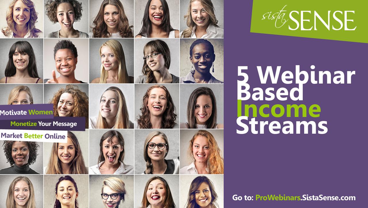 5 Webinar Based Income Streams for Web Entrepreneurs