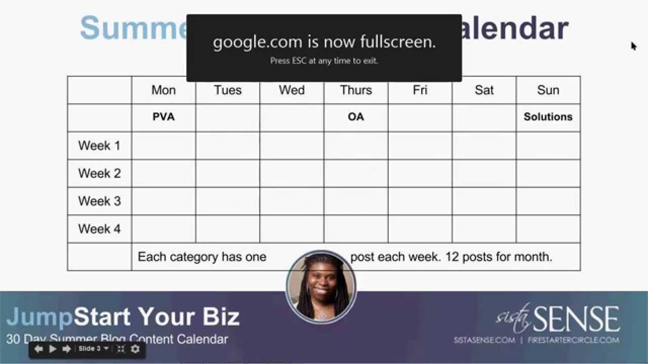 (video) Create Your Summer Blogging Calendar