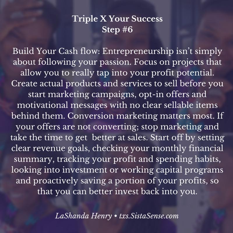 SistaSense 7 Steps to Triple X Your Success