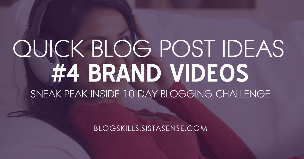 Quick Blog Post Idea #4 for Busy Entrepreneurs: Live Stream Video Series