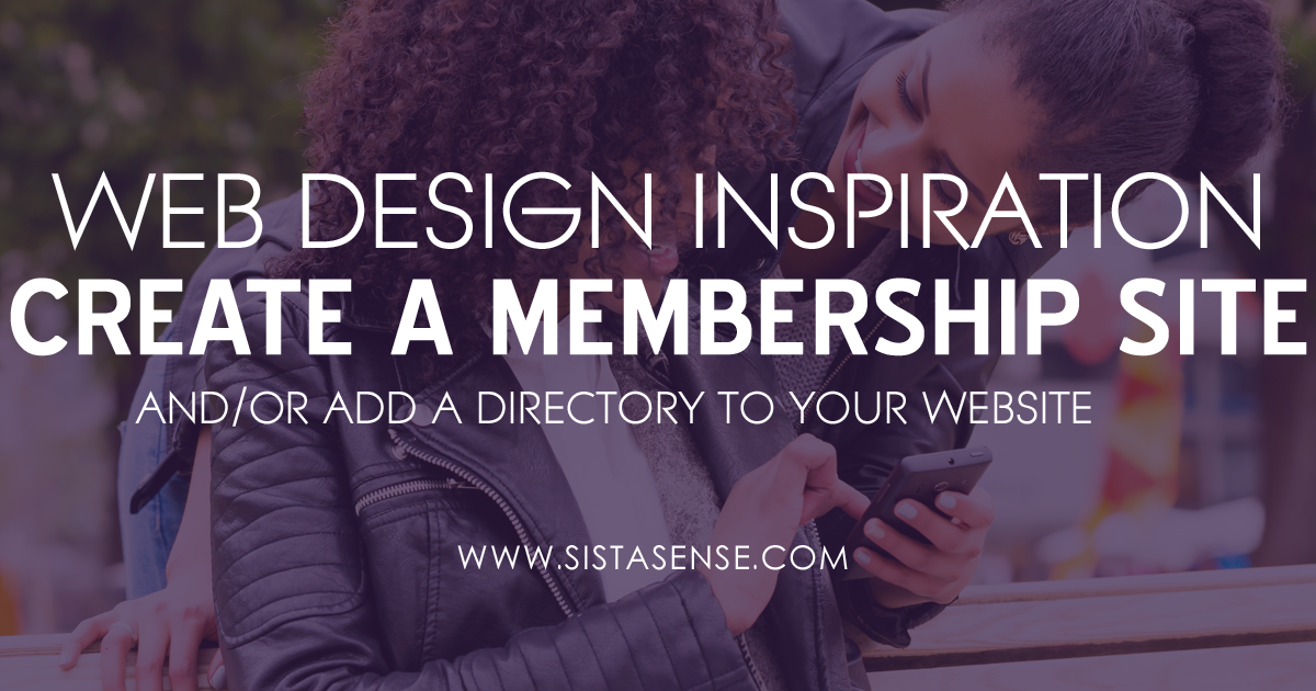 Website Design Inspiration: Create Your Own Membership Website + Brand Directory